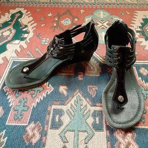 DONALD J PLINER Dyna Wedge Sandal Size 8